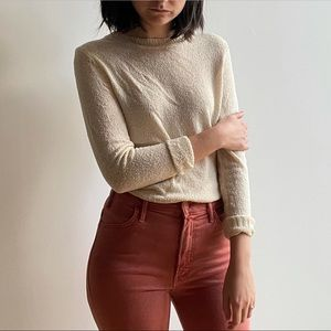 NWT OAK+FORT CREAM KNITTED SWEATER - XS